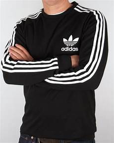 adidas sleeve shirts for adidas originals clfn sleeve t shirt black trefoil
