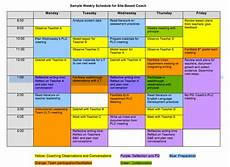 Teacher Schedule What Can A Coach S Schedule Look Like The Art Of