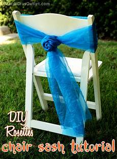 diy chair sash rosettes a tutorial in 2019 weddings