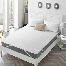 quilted fitted mattress pad non skid waterproof fitted