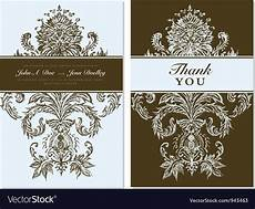 thank you card template free vector thank you card templates royalty free vector image