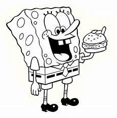 sponge bob coloring page child coloring