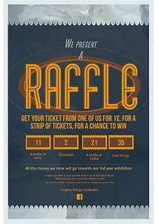 Raffle Ticket Poster Ideas Raffle Poster Design Fundraising For An Exhibition On Behance