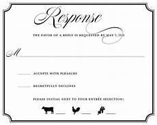 Rsvp Cards Examples Wedding Rsvp Wording Ideas