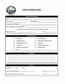 Employee Time Off Request Form 40 Effective Time Off Request Forms Amp Templates