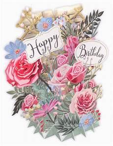 Card Image Paper D Art 3d Flowers Birthday Card Tw030