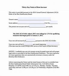 Increase Rent Notice Free 10 Sample Rent Increase Notice Templates In Pdf Ms
