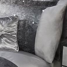 glitter silver crushed velvet quilt duvet cover