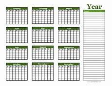 Blank School Calendar Yearly Blank Calendar With Holidays Free Printable Templates