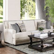 furniture of america osvaldo transitional sofa with