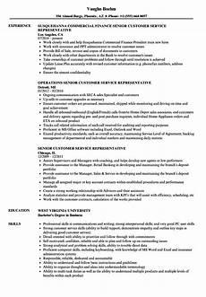 Sample Resumes For Customer Service Representative Senior Customer Service Representative Resume Samples