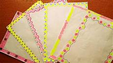 How To Make Chart Paper Decoration Border Designs Border Designs For Project Border