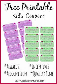 Coupon Chart Children S Gift Idea Free Printable Reward Tickets The