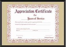 Years Of Service Certificate Free Printable Appreciation Certificate For Years Of Service