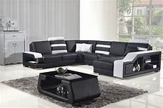 divani casa t356 modern black white bonded leather