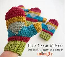 crochet mittens hello gnome mittens free crochet pattern on moogly