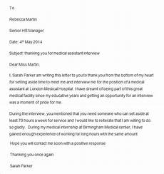 Medical Assistant Thank You Letter Examples Free 13 Thank You Letters After Interview Templates In
