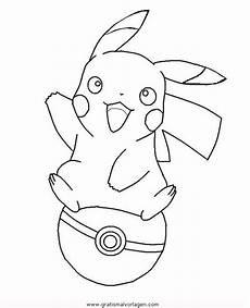 Ausmalbilder Pikachu Kostenlos Pokeball Gratis Malvorlage In Comic