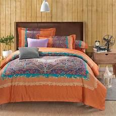 wholesale classic paisley orange king size bed lines