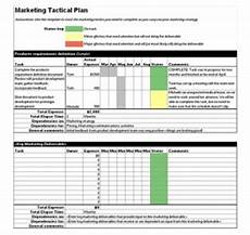 Tactical Plan Tactical Marketing Plan Template Marketing Tactical Plan