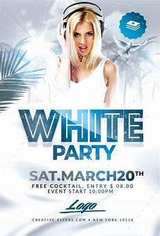 Free All White Party Flyer Template White Party Flyer Templates Club Amp Beach Invites