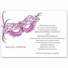 Masquerade Invitation Sample Masquerade Invitation S Bridal Bargains