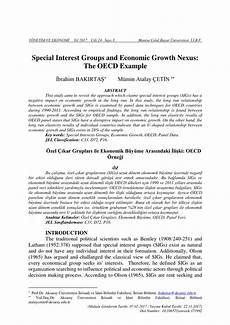 Special Interest Examples Pdf Special Interest Groups And Economic Growth Nexus