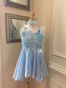 Light Blue Costume Custom Lyrical Dance Costume For Competition Baby Blue With
