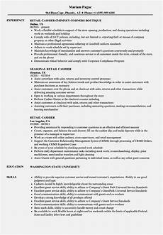 Sample Cv For Cashier Job 10 Describe Cashier On Resume Proposal Resume