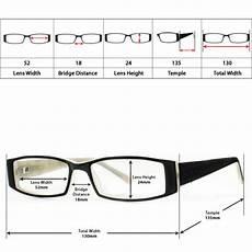 Eyeglasses Measurements Chart Eyeglasses Size Guide