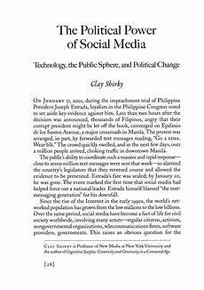 Essay About Social Media The Political Power Of Social Media Technology The