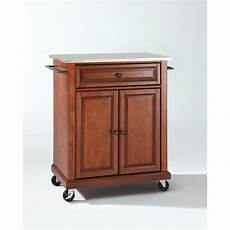 crosley kitchen islands crosley furniture stainless steel top portable kitchen