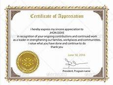 Appreciation Certificates For Employees Free 34 Sample Certificate Of Appreciation Templates In