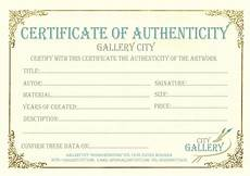 Certificate Of Authenticity Template Blank Certificate Of Authenticity Printable Birthday