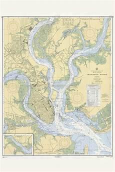 Charleston Sc Nautical Charts Charleston Harbor South Carolina Historical Map 1959