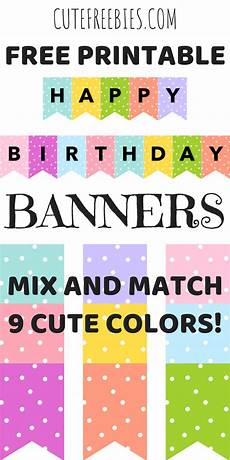 Colorful Happy Birthday Banner Happy Birthday Banners Buntings Free Printable