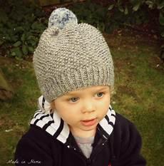 stricken kleinkind made in home toddler pompom beanie hat a free pattern