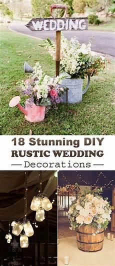 18 stunning diy rustic wedding decorations diy rustic