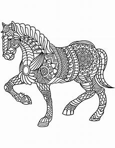 coloring pages for adults mandalas de caballos