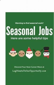 Seasonal Jobs Tips On Finding Seasonal Jobs Legitimate Online Opportunity