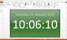 Digital Timer Powerpoint Free Powerpoint Digital Clock Alarm Amp Countdown Youpresent
