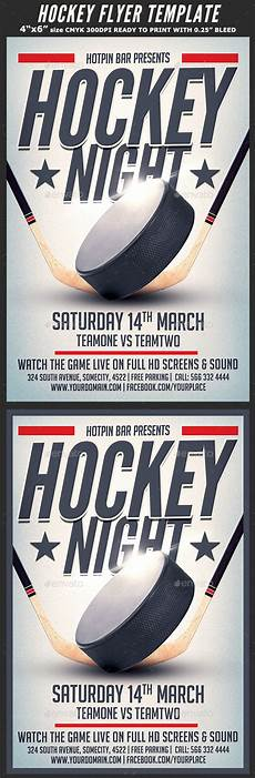 Hockey Flyer Template Hockey Match Flyer Template By Hotpin Graphicriver