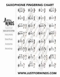 Beginner Alto Saxophone Finger Chart Print Free Charts For Saxophone Clarinet Flute