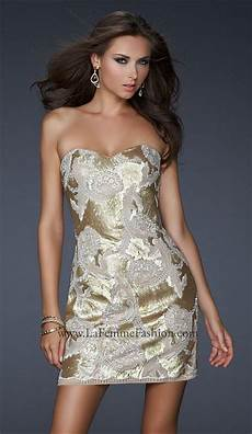 Light Gold Sequin Dress La Femme Light Gold Sequin Lace Cocktail Prom Dress 17517