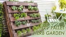 diy garden diy shipping pallet herb garden makeful
