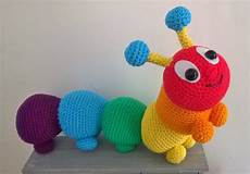 rainbow caterpillar by liz ward amigurumi crochet pattern