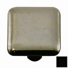 knobs metallic black square cabinet knob at lowes