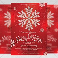 A5 Invitation Template Christmas Invitation Seasonal A5 Flyer Template