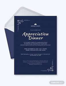 Staff Dinner Invitation 8 Appreciation Dinner Invitations Word Psd Ai