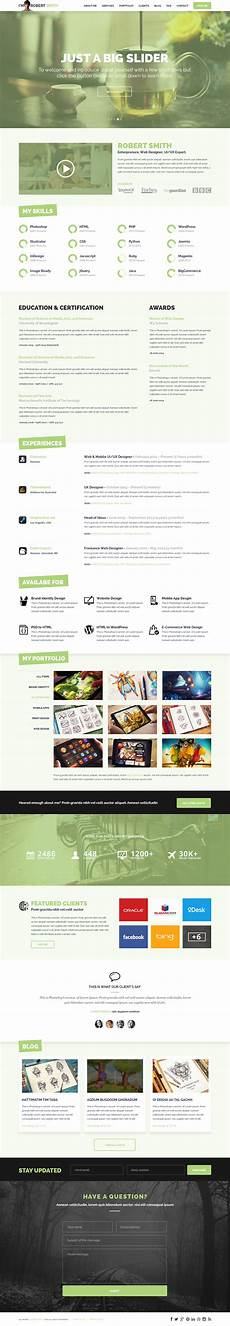Resume Format Website 25 Best Free Resume Cv Templates Psd One Page Resume